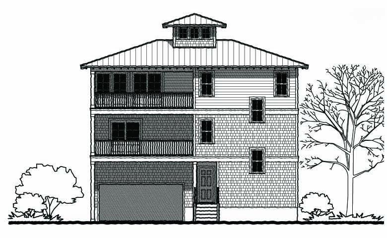 Coastal duplex elevations joy studio design gallery for Coastal duplex house plans