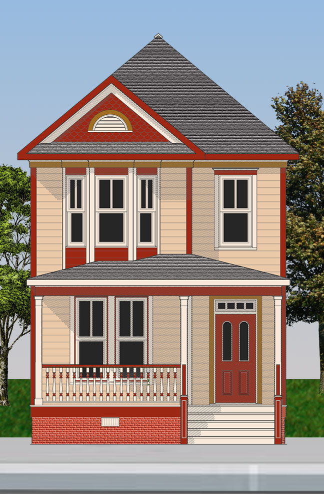 The Marcia A Victorian Painted Lady Gmf Architects House Plans Gmf Architects House Plans