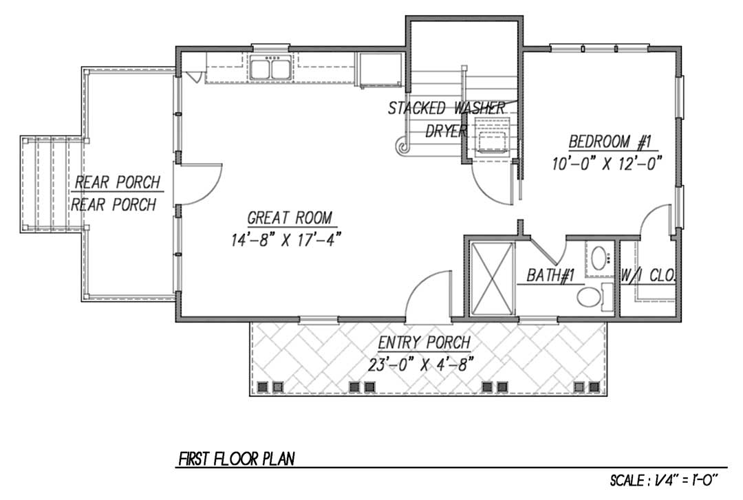 first floor - Katrina Cottage Plans