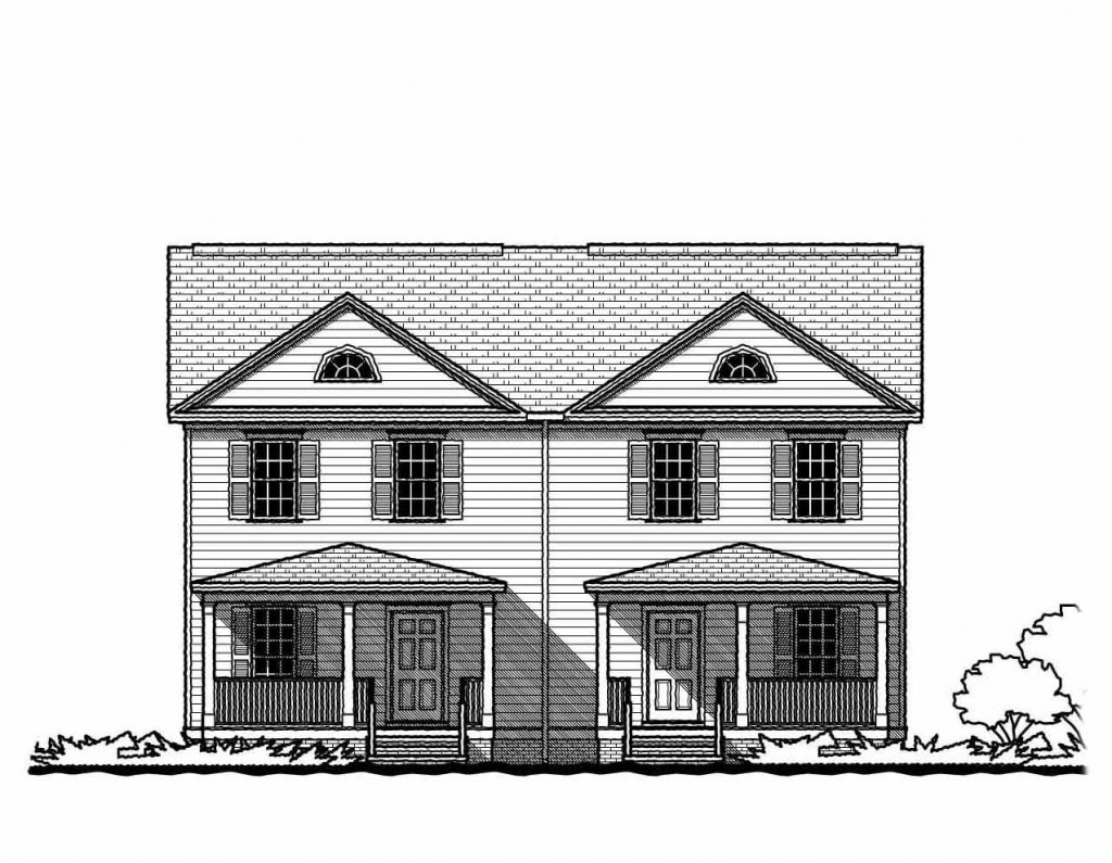 The federal duplex gmf architects house plans gmf for Tnd house plans