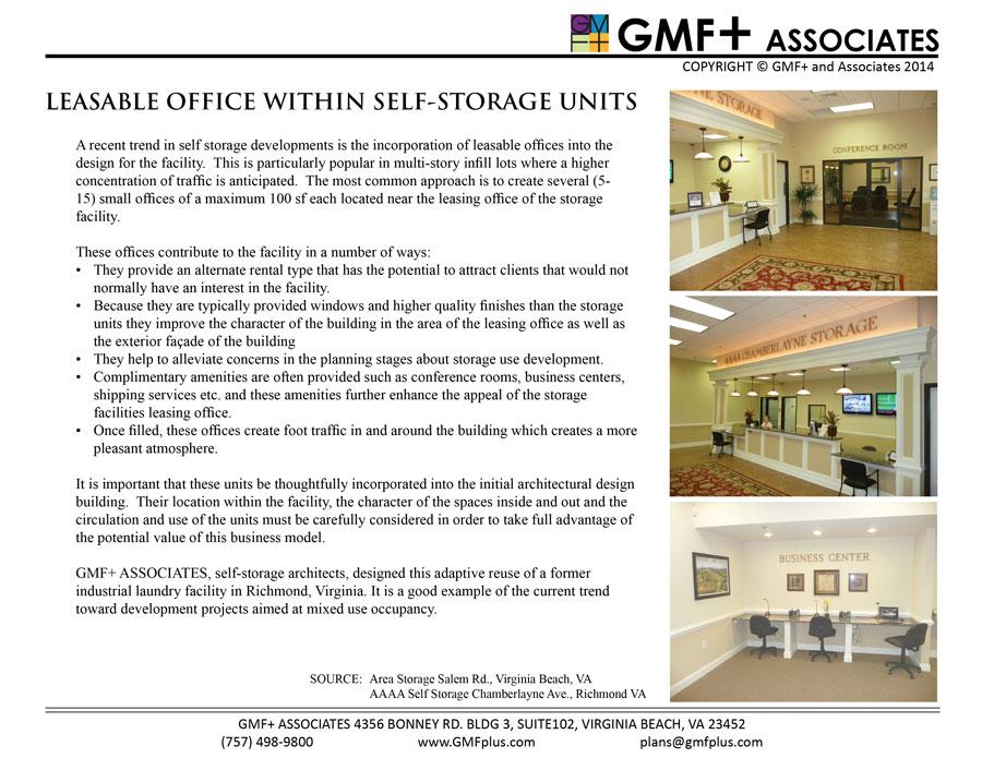 Self Storage Leasable Office Space Within Storage Units  sc 1 st  GMF + Associates & GMFplus Associates - Self Storage Architects - Leasable Office Space ...