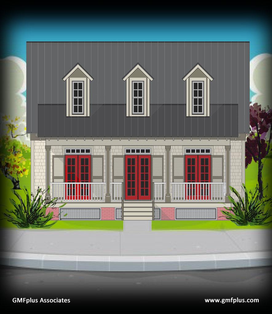 Coastal Duplex Elevations | Joy Studio Design Gallery Best Design