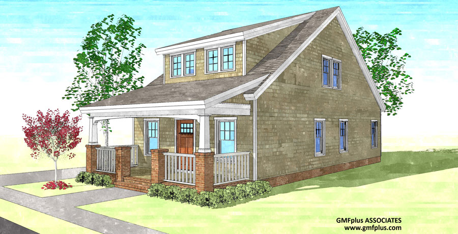 The Sears Bungalow Gmf Architects House Plans Gmf