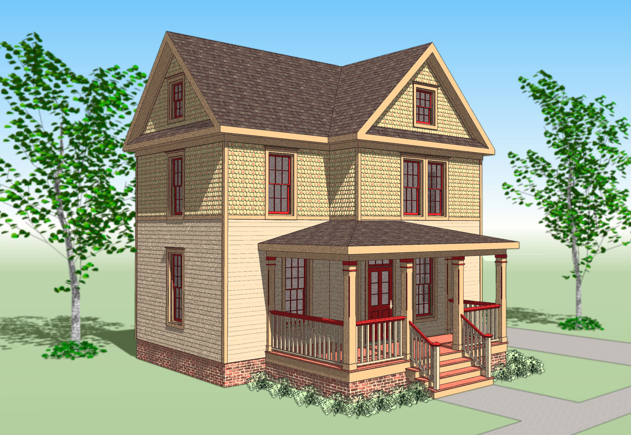 The sears victorian gmf architects house plans gmf for Victorian home plans