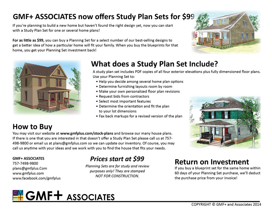 GMFplus Architects - Suburban Stock House Plans Library - Study ...