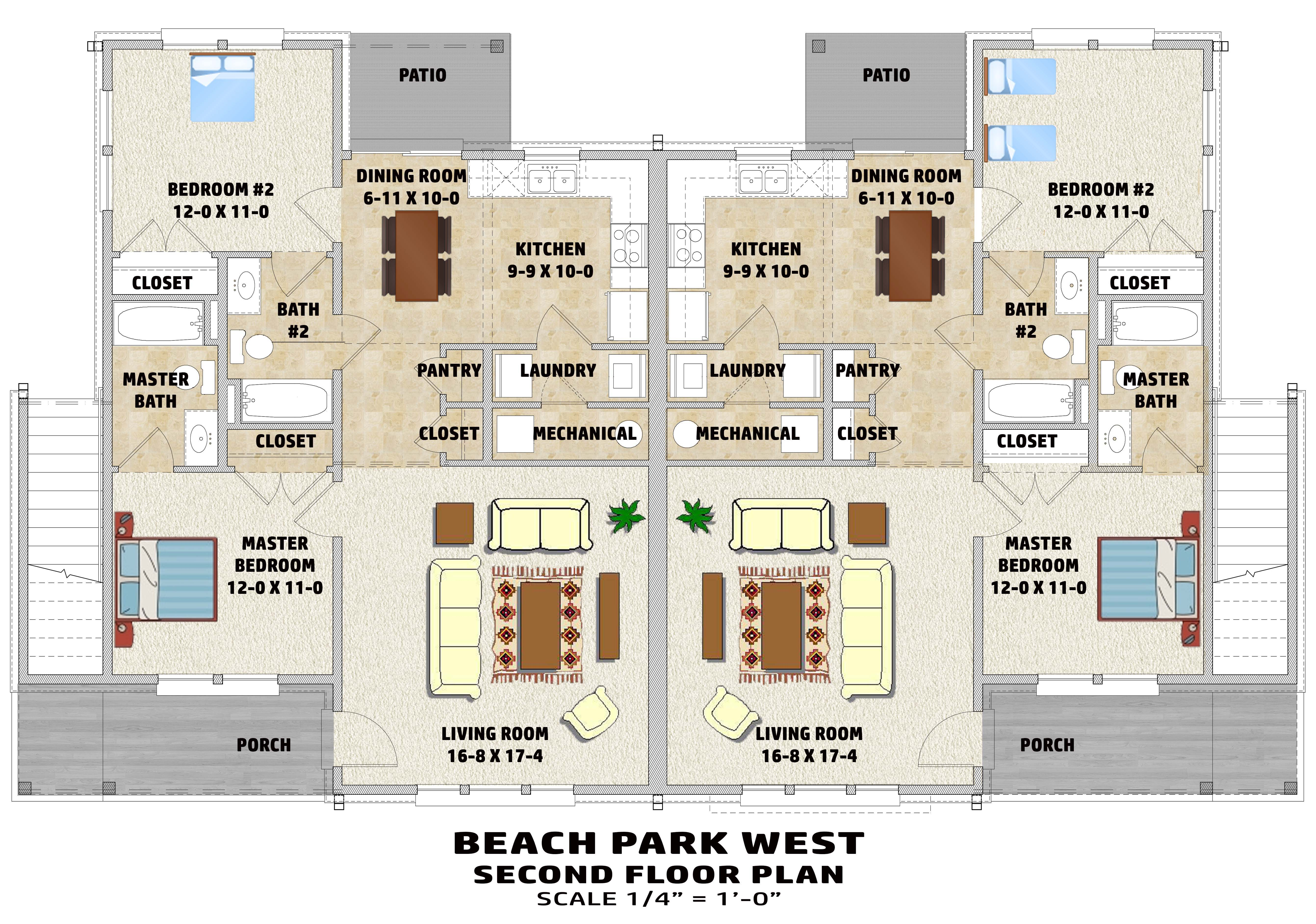 The Beach Park West Gmf Architects House Plans Gmf
