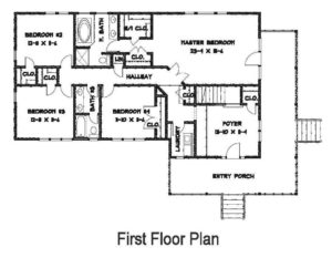 Waterfront Property Custom Home First Floor Plan
